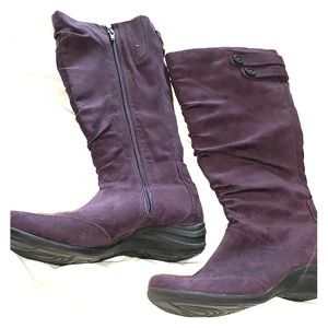 Hush puppy purple suede boots nwot